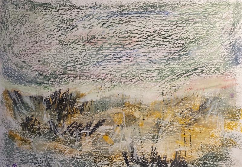 Landscape-oilpastels