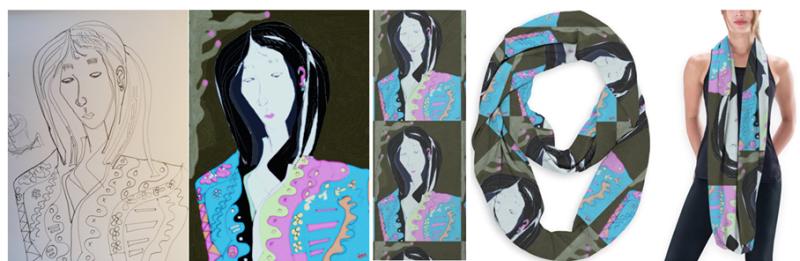 Woman-scarf