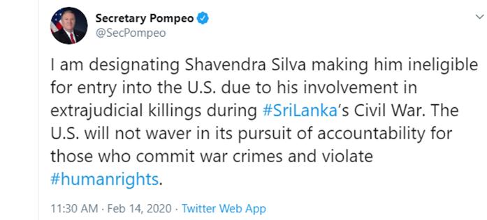 Pompeo-Lanka